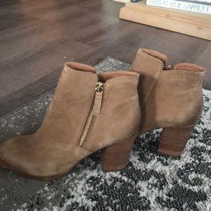 Aldo tan leather booties